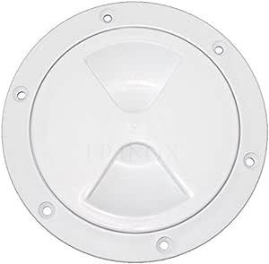 Trappe Ronde Blanche Plastique 170mm avec Joint