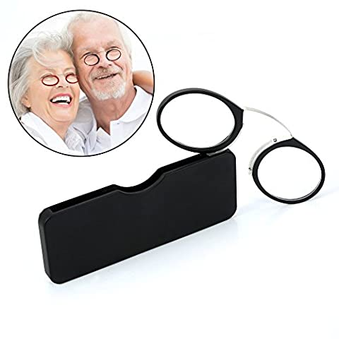 Round Glasses, Nose Resting Glasses Pince Nez Reading Glasses Lightweight