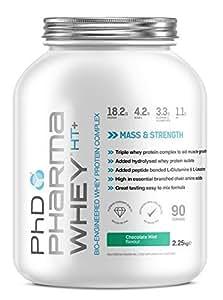 PhD Nutrition Pharma Whey HT+ Powder - 2.2 kg, Chocolate Mint