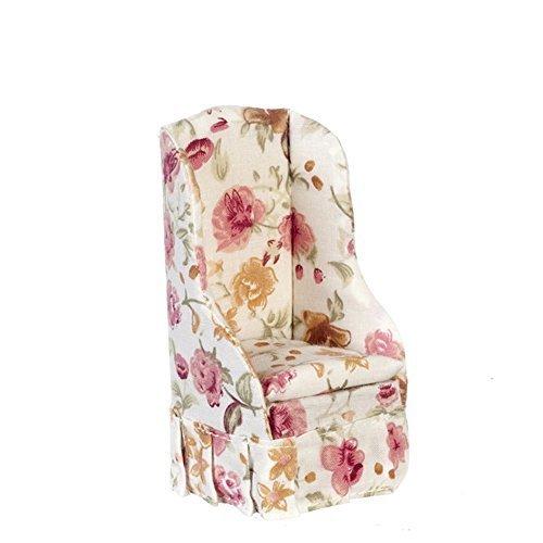 Melody Jane Casa Delle Bambole Rosa Floreale Poltroncina Poltrona Miniatura Soggiorno Arredamento