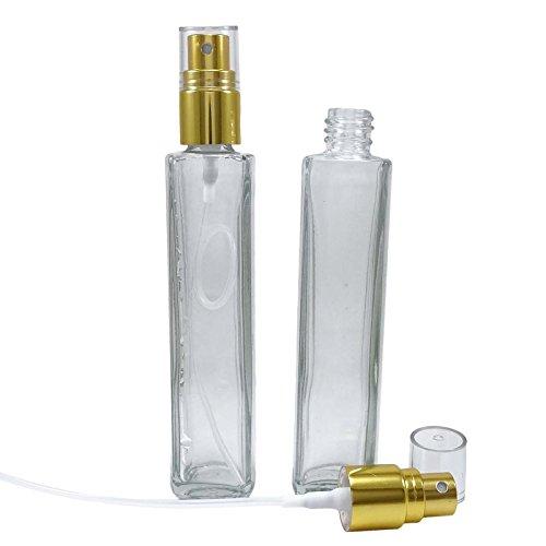 6 pièces vide bouteilles de parfum en verre claires rechargeable vaporisateur de parfum de l'huile essentielle aromathérapie gros 50 ml atomiseur or bouteille