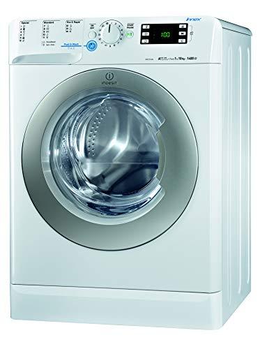 Indesit XWE 101484X WSSS EU Waschmaschine FL / 205 kWh / 1400 UpM / 10 kg / 12810 Liter/Jahr/Inverter-Motor/leise nur 56 db/Schnellprogramm 9-30-60 Min/weiß