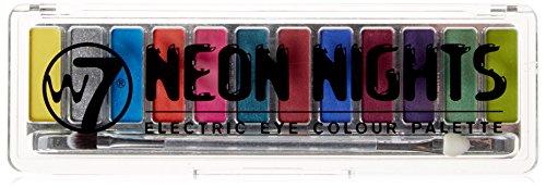 w7, Neon nights, Palette con 12 ombretti pigmentati illuminanti