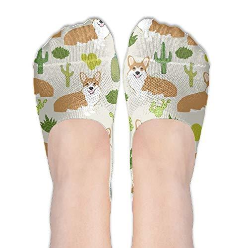 Integrity merchant Dog Animal Cactus Boat Line Sneaker Socks Flat Cool.Cute Simple No-show Socks Soft Happy Socks Animal Print Tube Dress
