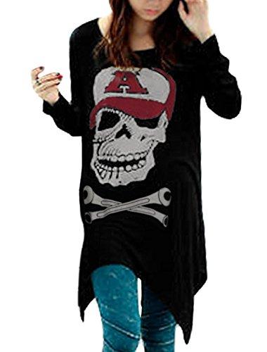 allegra-k-damen-rundausschnitt-langarm-schadel-skull-lose-tunika-shirt