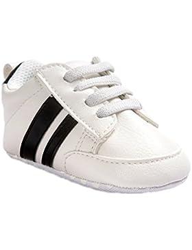 Zapatos para bebé Auxma Zapatillas Bebé niño niña Zapatillas Bebé Prewalker de cuero PU por 3-6 6-12 12-18 mes