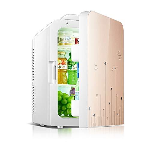 Xyanzi Mini-Kühlschränke Mini-Kühlschrank, Kleiner Kühlschrank mit 20 L Inhalt 100% Freonfrei und Umweltfreundlich Inklusive Stecker for Die Steckdose und 12 V-Autoladegerät Blau Braun