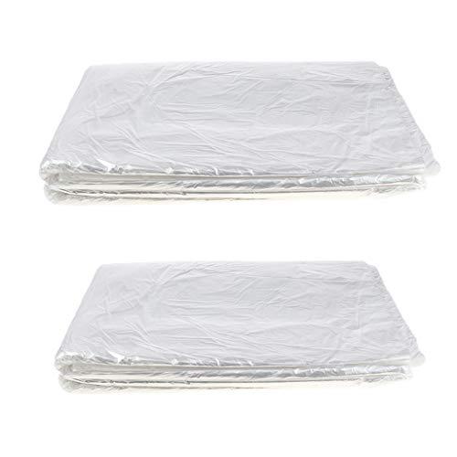 P Prettyia 150 X Impermeable Herramienta Para Teñir El Cabello Plástico Desechable Peluquería Cabo Mantón Transparente Proteja La Ropa De Estar Mojado