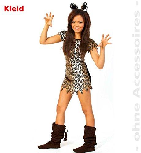 Leopard Kleid Casie 1tlg PLÜSCH Teenie Kinder Mädchen Kostüm Fasching Gr: (Kostüm Für Kleinkind Leopard)
