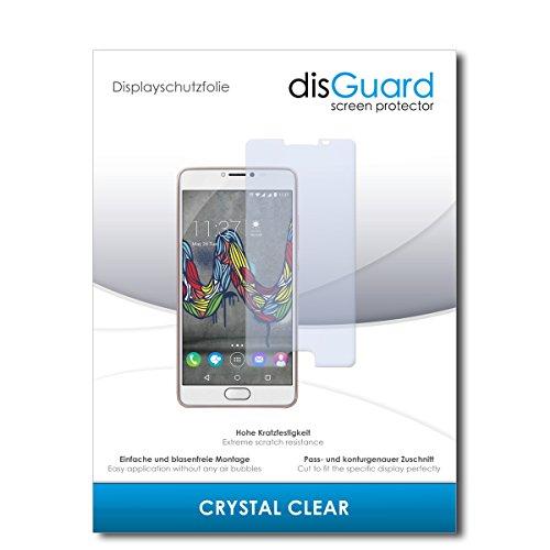 disGuard® Bildschirmschutzfolie [Crystal Clear] kompatibel mit Wiko U Feel Fab [2 Stück] Kristallklar, Transparent, Unsichtbar, Extrem Kratzfest, Anti-Fingerabdruck - Panzerglas Folie, Schutzfolie