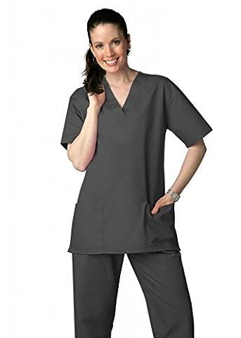 Adar Medical Unisex Drawstring Hospital Nurse Scrub Set (Available in 39 colors) - 701 - Pewter - XXS