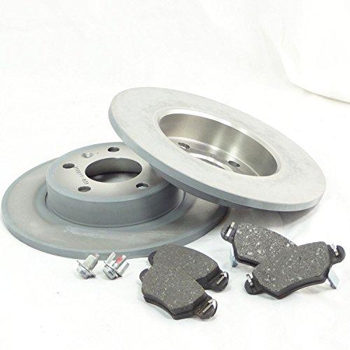 2 Disques de frein 4 plaquettes de frein OPEL zafira a05 van à partir de Bj 2005 arrière 264 MM