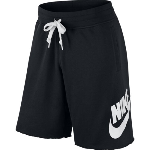Nike AW77 FT - Pantaloni da uomo, corti, in grigio, unisex, Beinkleid AW77 Ft Aluminium Shorts Men, Nero, S