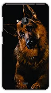 Crazy Beta Cute dog Geraman shepherd Printed mobile back cover case for Microsoft Lumia 535