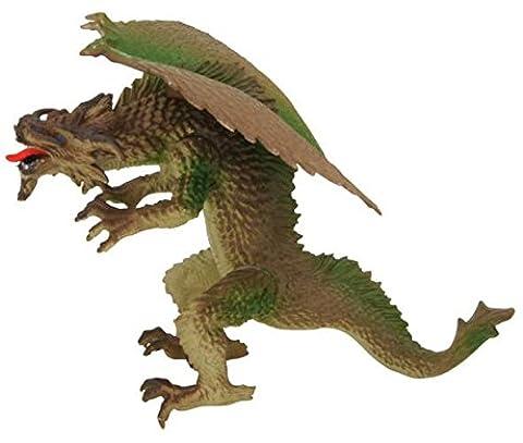 Figurine Dragon Articule - Figurine monstre dragon pattes articulées - Marron