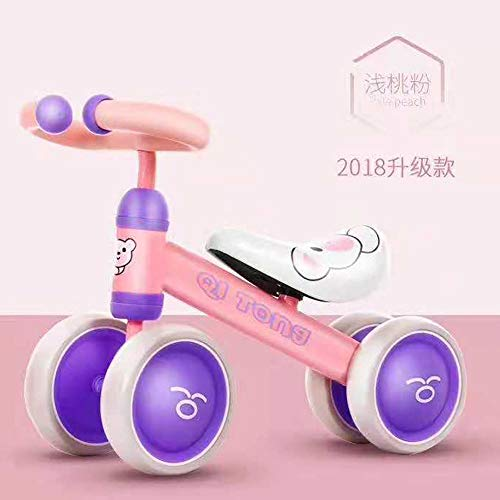CX TECH Baby Balance Bike Mini Bike Scooter Toddler Walker Trike Durable Quatre Roues Vélo en Plein Air/IndoorKids Apprendre Vélo De Marche,Purple