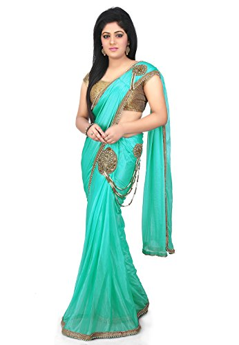 Aarti Sarees Women's Clothing Pre-Stitched Lycra Sarees For Women Latest Design Ready...
