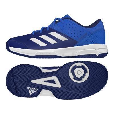 adidas Unisex-Kinder Court Stabil Jr Handballschuhe, Mehrfarbig (Azul / Ftwbla / Tinmis), 38 EU