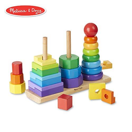 Melissa & Doug- Impilatore Geometrico, Multicolore, 10567