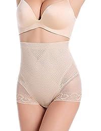 EDTara Women's Postpartum Lace High-Waisted Tummy Control Shapewear Brief Black L Complexion 2XL