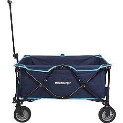 Berger Bollerwagen blau 129 Liter bis 100 kg belastbar faltbar Transportkarre