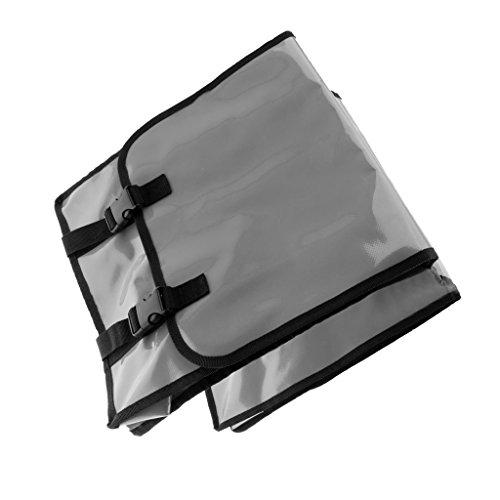 Wasserdichte Fahrrad Doppel Seite Satteltasche Pannier, Hochwertig, Praktisch und Hohe Qualität Silber