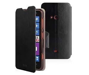 Dolextech qulity mofi Nokia lumia 625 téléphone PU etui Housse coque de stand (Pour Nokia Lumia 625, noir)