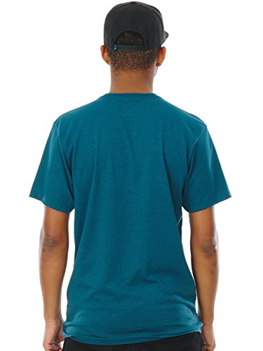 Fox T-Shirt Looped Out Maui Blau meliert heat.m.blu