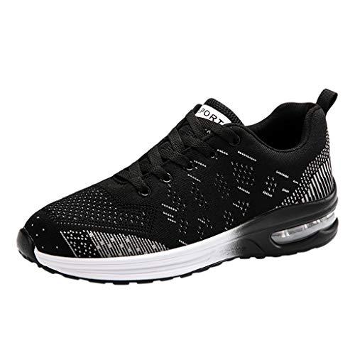 Aoogo Herren Sportschuhe Laufschuhe Damen Turnschuhe Air Trainers Running Fitness Atmungsaktiv Gym Sneakers