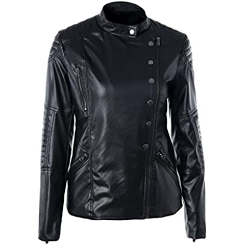 donne cerniera giacca, FEITONG di vintage donne
