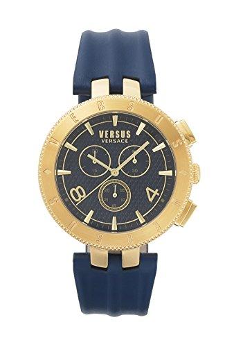 Versus By Versace Orologio da Uomo Cronografo al Quarzo con Cinturino in Pelle – S76090017