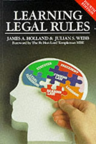 Learning Legal Rules, 4th Ed.