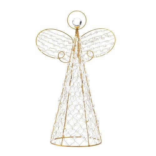 Köhler Maison Vacances Arbre Accent Dessus de table étagère Doré Cadre en fil métallique Crystalline Perles Ange Décor par Koehlerhomedecor