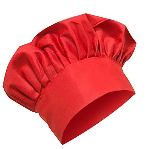 Fenteer uomo donna cappello protezione cappellini da cuoco chef ristorazione hat da lavoro - #7, taglia unica