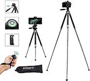 Fotopro Treppiedi fotocamera, Treppiede Cellulare Cavalletto Tripod video da 39,5 Pollici in Alluminio per Cam