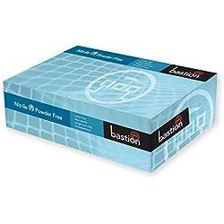 edulab bng6835guantes de nitrilo, sin polvo, Micro con textura, talla XL, color azul (Pack de 100)