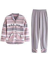 4df83bbb71 Meaeo Pijamas De Algodón para Parejas De Primavera Y Otoño