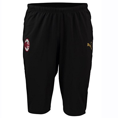 Puma AC Training 3/4 Pants Black-Victory Gold 18/19 Milan L Black-Victory Gold