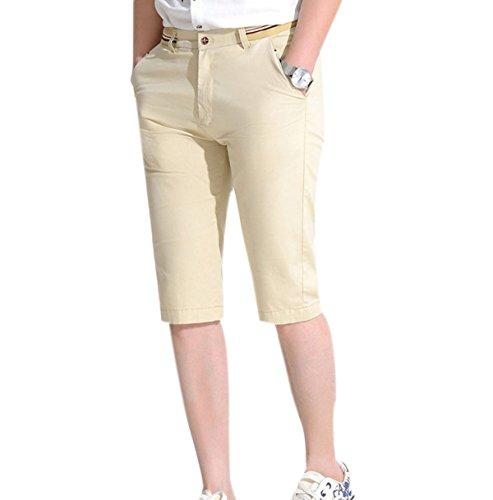 Estate Di Sesso Maschile Il Cotone I Giovani I Pantaloni Di Mezza Età E Giovani Traspirante Sciolto Elastico Pantaloncini Da Spiaggia Brown