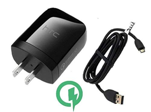 Designed by HTC Rapid Quick Charge 3.0 Wall Kit Certified for Lenovo Yoga Tablet 2 10-Inch (Android) Will Charge Up in A Blink, Up to 80% Faster Than Conventional Chargers [3ft Cable, 20w Dual