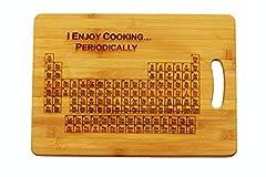 Idea Regalo - Tagliere personalizzabile con incisione, modello: tavola periodica degli elementi con scritta in lingua inglese