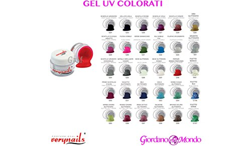 1 gel uv colorati ricostruzione unghie professionali da 7ml verynails per estetista