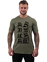 "T-Shirt pour hommes slogan ""THAT'S HOW I ROLL"""