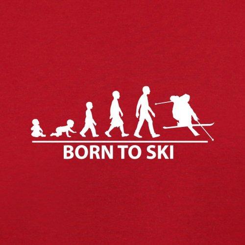 Born To Ski - Damen T-Shirt - 14 Farben Rot