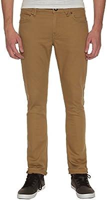 Volcom 2x4 Twill 5Pckt - Pantalón para hombre, color kaki