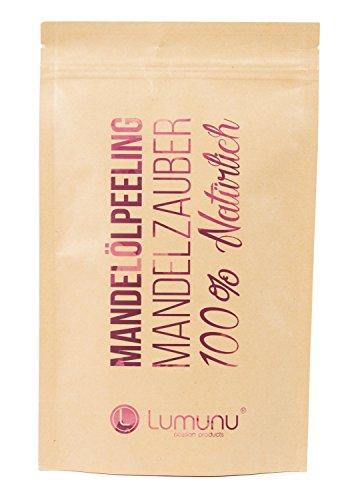 Duftende Körper-peeling (Deluxe 3-in-1 Creme Öl-Peeling MANDELZAUBER (250g), 100% natürliches Körper-Peeling mit Mandelöl, vegan & tierversuchsfrei)