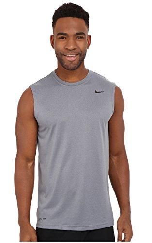 Nike Mens Legend Dri Fit Sleeveless T Shirt (Small, Grey) - Nike Womens Sleeveless Tee