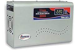 Microtek EM4160+ Digital Display Voltage Stabilizer For AC upto 1.5 Ton (160V-285V) New Model 2017