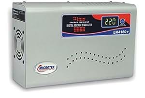 Microtek EM4160+ 160V-285V Digital Display Voltage Stabilizer (Grey) for AC Upto 1.5 Ton