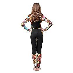 Lixada 3mm Ganzkörper Neoprenanzug, Einteiliger Taucheranzug, Lange Ärmel, für Damen, Tauchen, Schnorcheln, Schwimmen, Wassersport, Ausrüstung